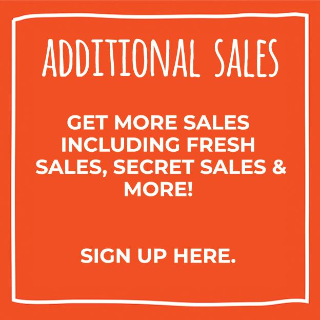 Orange Box with Additional Sales information =
