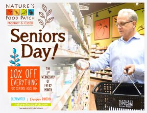 10% off for Seniors, first Wed of every month