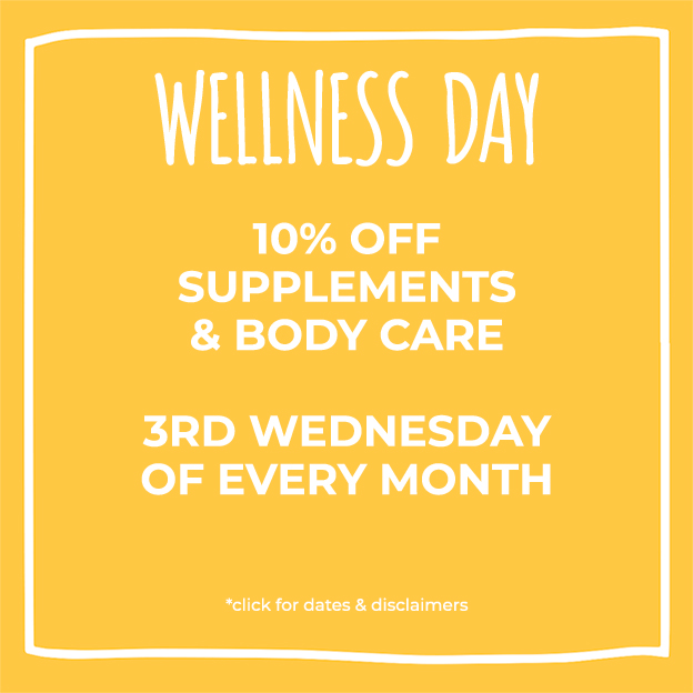 Yellow Box with Wellness Day information